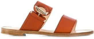 Lanvin grommet flat sandals