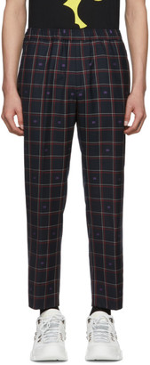 Gucci Black Wool GG Trousers