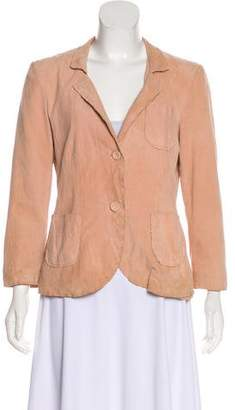 Philosophy di Alberta Ferretti Leather Notch-Lapel Blazer