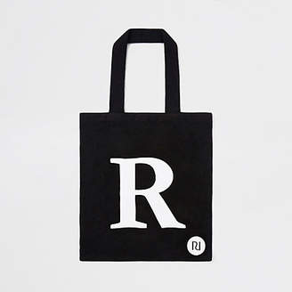 River Island Black 'R' initial shopper tote bag