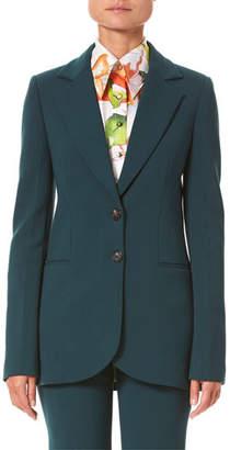 Carolina Herrera Two-Button Suit Jacket