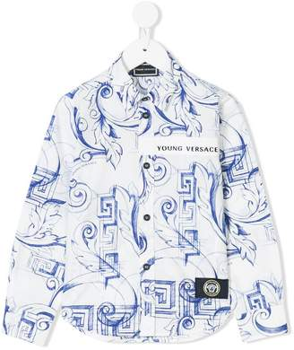 Versace Baroque printed shirt