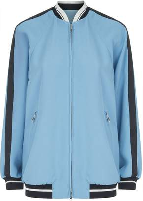 RED Valentino Embroidered Back Bomber Jacket