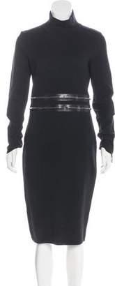 Blumarine Zip-Accented Wool Dress