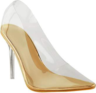 36e01e2b9ad0 clear Fashion Thirsty Womens Court Shoes Perspex High Heel Stilettos Pumps  Party Size 7