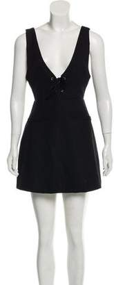 Reformation V-Neck Mini Dress