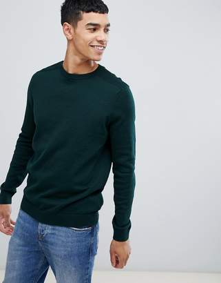 New Look sweater with crew neck in khaki