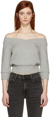 Alexander Wang Grey Cropped Sweater