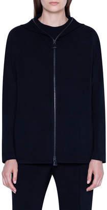 Akris Zip-Front Hoodie Jacket