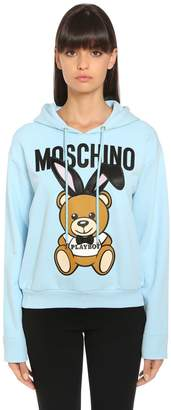 Moschino Playboy Bear Hooded Cotton Sweatshirt