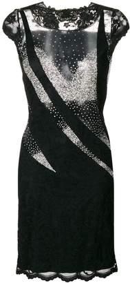 Olvi ́S sheer panels dress