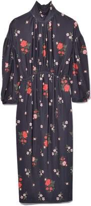 Simone Rocha Polo Neck Dress in Dark Flower