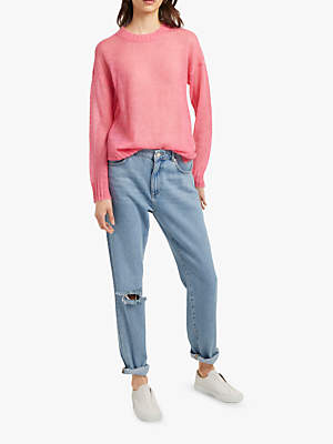 French Connection Miri Drop Shoulder Jumper, Bright Pink