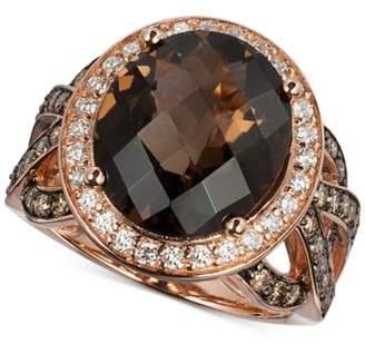 LeVian Le Vian Chocolatier® Chocolate Quartz® (6 ct. t.w.) & Diamond (1-1/6 ct. t.w.) in 14k Rose Gold