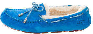 UGG Australia Suede Round-Toe Loafers $80 thestylecure.com
