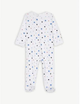 Petit Bateau Stars print cotton sleepsuit 3-36 months
