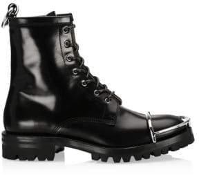 Alexander Wang Lyndon Box Leather Combat Boots