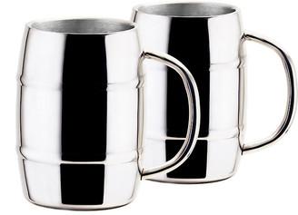 One Kings Lane Set of 2 Barker Mugs - Silver