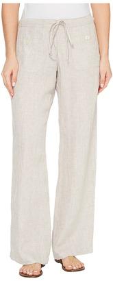 Allen Allen - Four-Pocket Long Linen Pants Women's Casual Pants $118 thestylecure.com