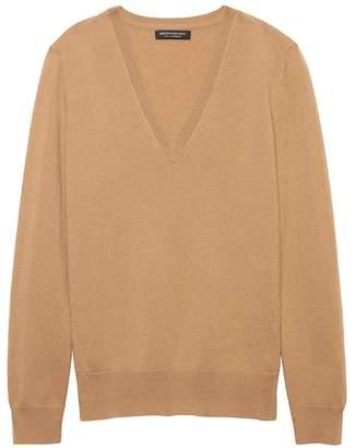 Banana Republic Petite Cashmere V-Neck Sweater