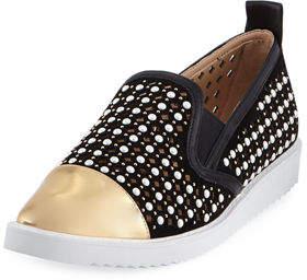 Karl Lagerfeld Paris Carrie Point-Toe Skate Sneakers