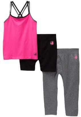 Body Glove 3-Piece Tank, Leggings, & Shorts Set (Little Girls)