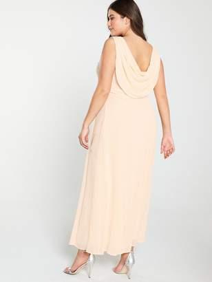 ebde9479 Little Mistress Curve Beaded Waist Bridesmaid Maxi Dress - Blush