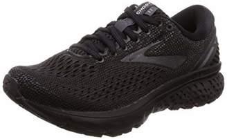 Brooks Women's Ghost 11 D Width Running Shoe (BRK-120277 1D 4084880 8.5 BLK/PNK/AQU)