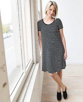 Women Scoopneck Pima Dress $88 thestylecure.com