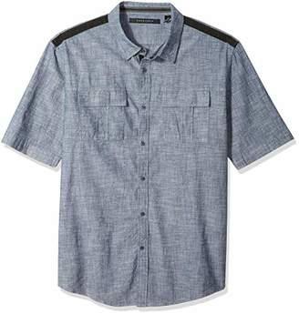 Sean John Men's Short Sleeve Linen Shirt