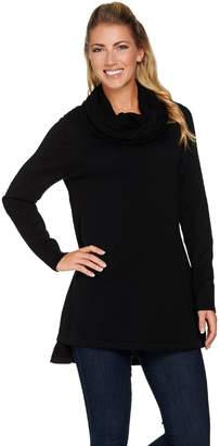 Isaac Mizrahi Live! Sweater Tunic w/ Cable Knit Cowl Neck