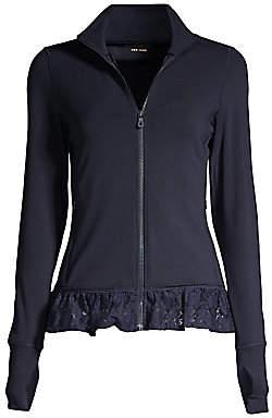 Kate Spade Women's Lace Ruffle Hem Jacket