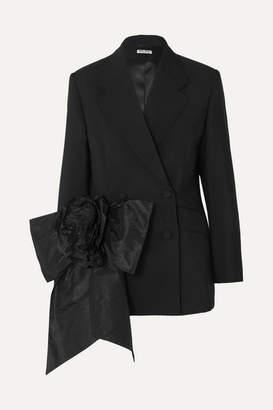 43b1482c2a7 Miu Miu Bow-embellished Mohair And Wool-blend Blazer - Black