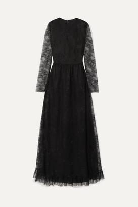 Philosophy di Lorenzo Serafini Ruffled Lace Gown - Black