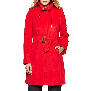 JCPenney Worthington® Belted Military Coat