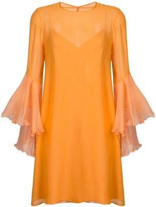 Galvan trumpet sleeve dress