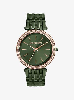Michael Kors Darci Pave Olive-Tone Watch