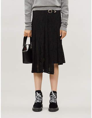 Maje Jalilo paisley lace midi skirt
