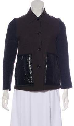 Hache Wool Colorblock Jacket