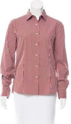 Loro Piana Striped Button-Up Top