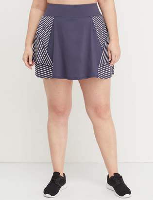 Lane Bryant Wicking Active Skort - Striped