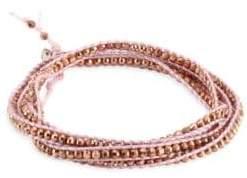 Chan Luu Rose Gold& Blush Cord Bracelet