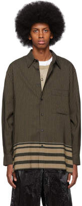 Lemaire Brown Check Shirt