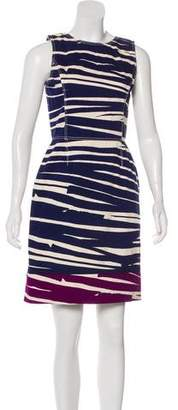 Oscar de la Renta Striped Mini Dress