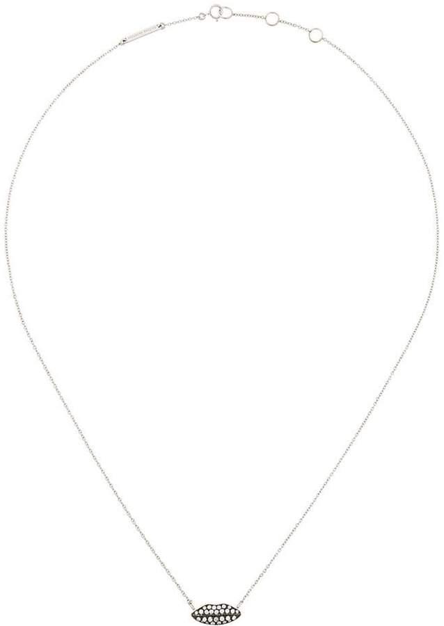 18kt 'Ana' Weißgoldhalskette mit Diamanten