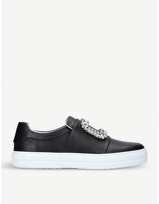 Roger Vivier Sneaky Viv leather trainers
