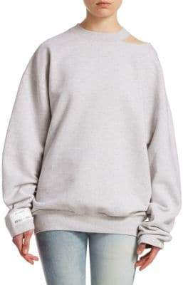 Vetements Open Shoulder Sweatshirt