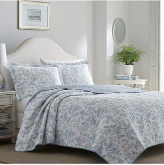Laura Ashley Full/Queen Amberley Quilt Set Bedding