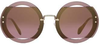 Miu Miu Reveal glitter sunglasses