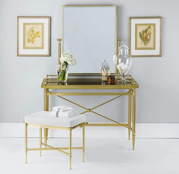Campaign Vanity Antique Brass
